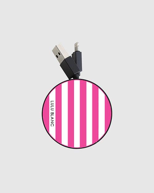 Pink striped reel