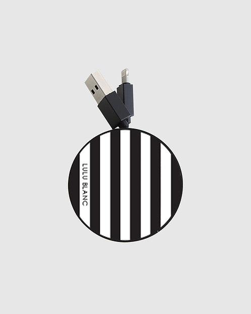 Black striped reel