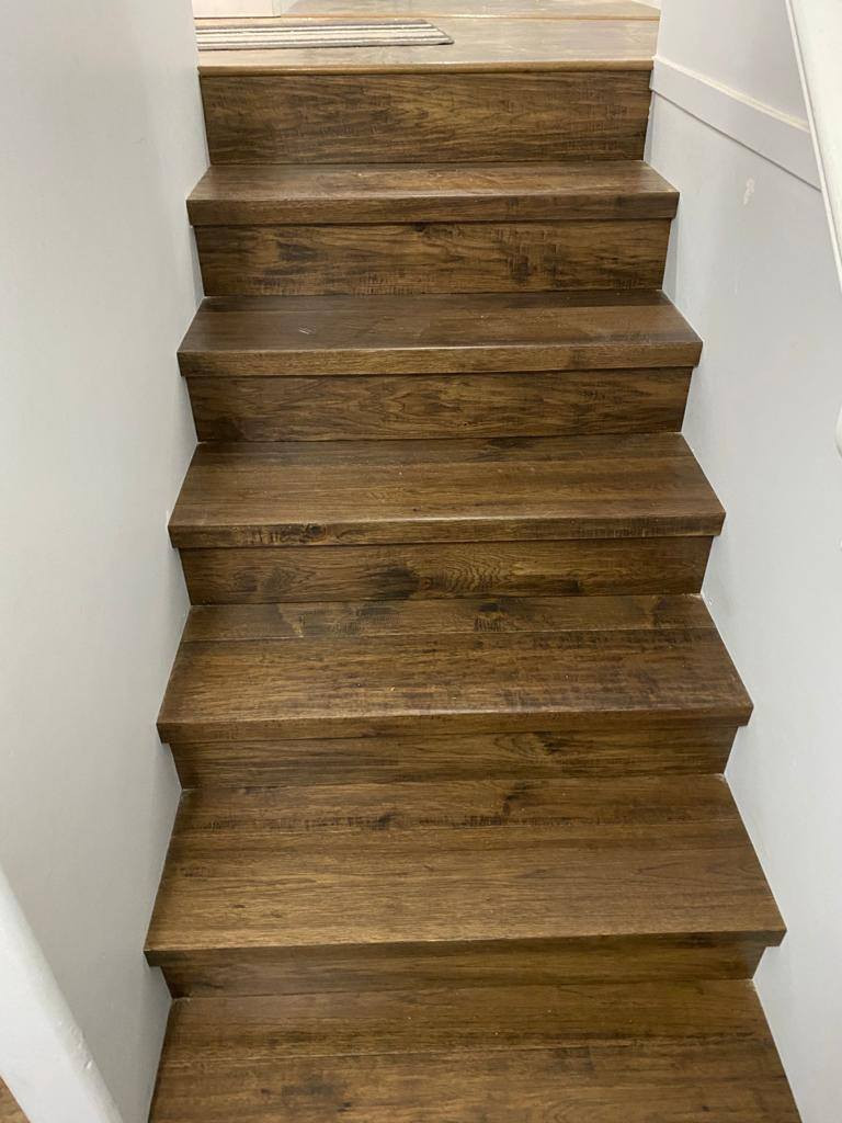 dark stair case to landing
