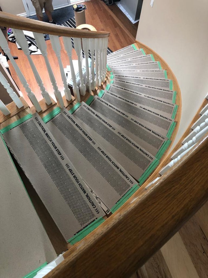 New Stairs Protected