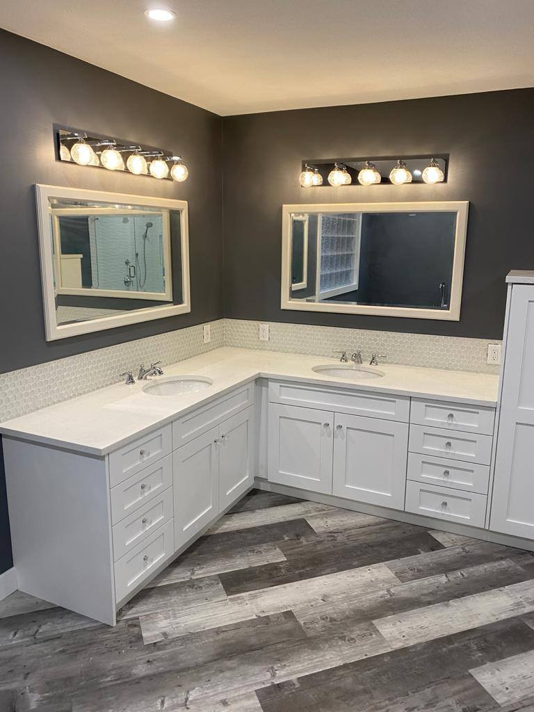 his and her vanity