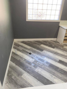 light grey flooring