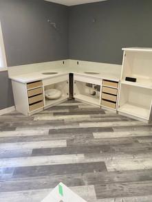 light grey bathroom floors