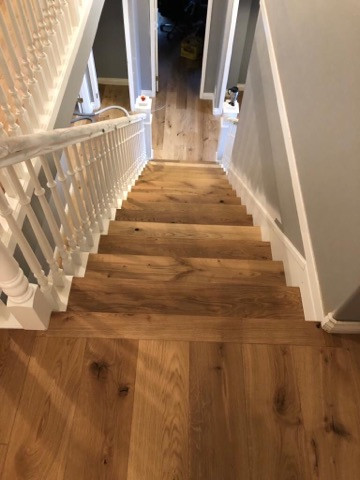 floor to stair transition