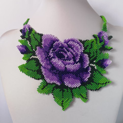 K18050 NECKLACE WITH ROSE