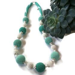 K18048 NECKLACE WITH BUBLES