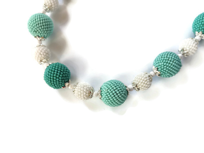 K18048-3 BEADED NECKLACE FOR WOMEN