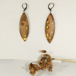 M0704 AMBER WOODEN EARINNGS