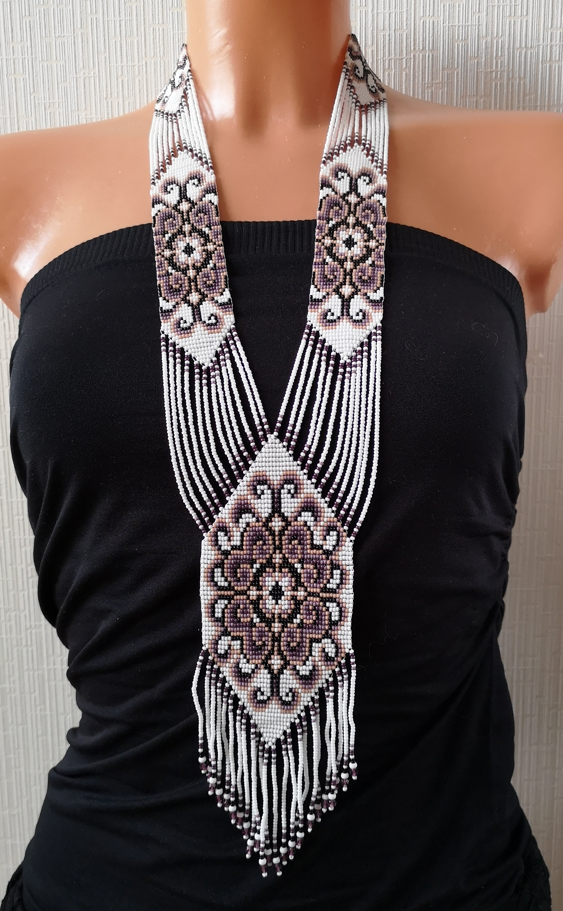 K19066-2 Seed beads necklace