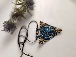 21076-2 3D TRIANGLE SEED BEADS PENDANT