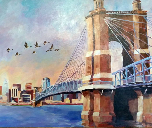 Roebling Bridge Cincinnati Ohio