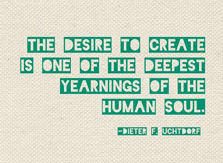 You were created to be creative.
