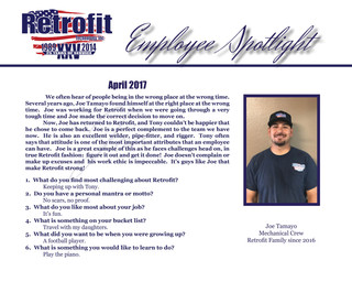April Employee Spotlight