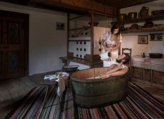Wenn Bauern, Knechte und Mägde baden.
