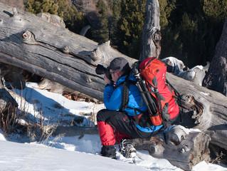 Schneeschuhwandern am Fuße des Zirbizkogel