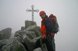 am Gipfel Gerlachspitze