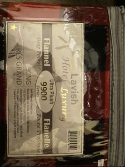 Lavish King size Flannel sheet set