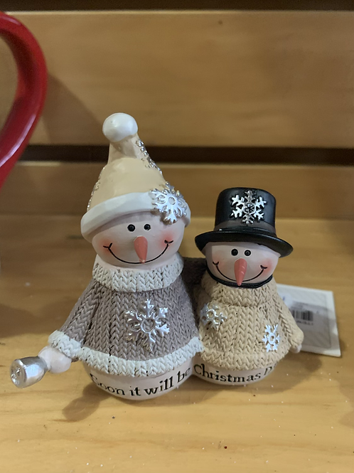 Snow Man and Woman figure