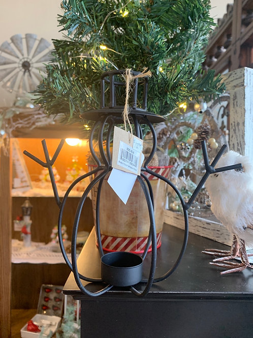 Snowman tea light, candle holder