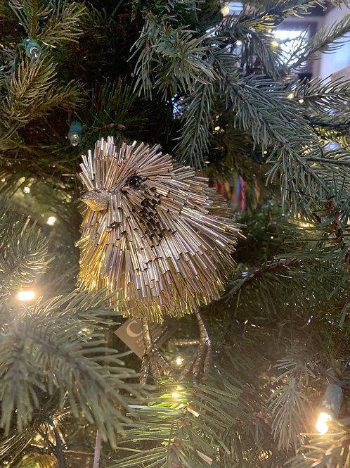 Gold bird Christmas Decor