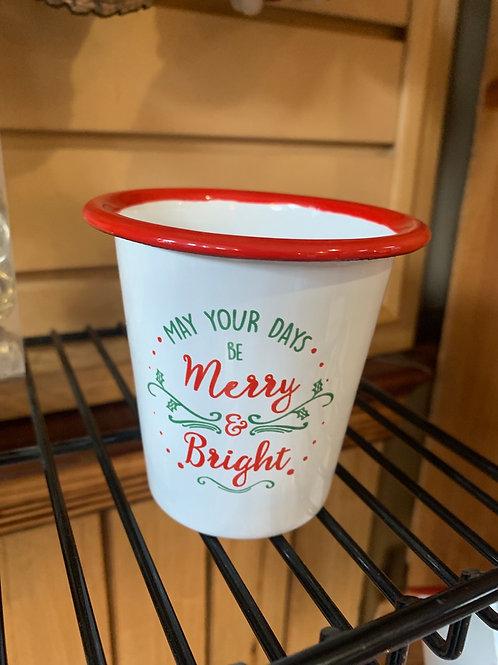 Tin Christmas Cup