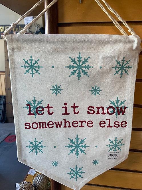 'Let It Snow'  Banner