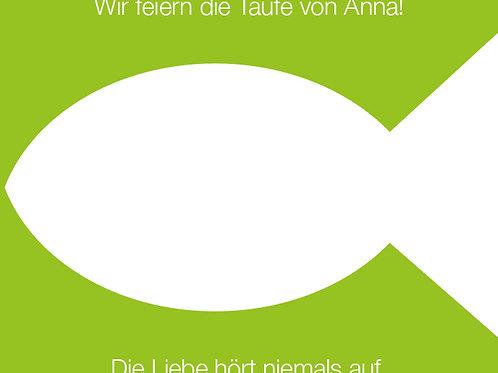 Taufe 1 / Fisch grün