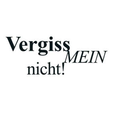 """typoMAGNET Plus / Liebe """"Vergiss mein nicht!"""""""