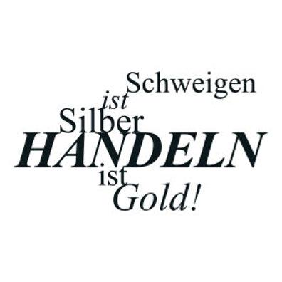 """typoMAGNET Plus / ZITAT """"Schweigen ist Silber, Handeln ist Gold!"""""""