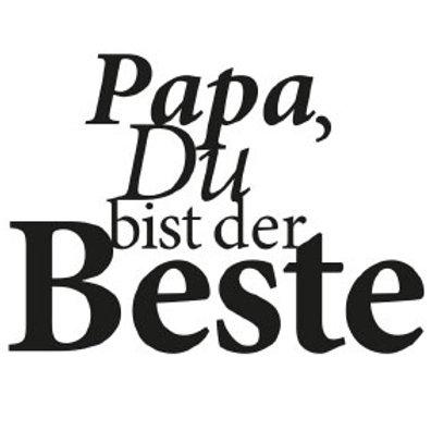 """typoBILD """"Papa, Du bist der Beste!"""""""