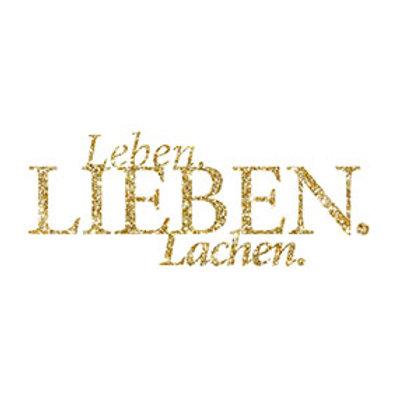 """typoBILD """"Leben. Lieben. Lachen!"""""""
