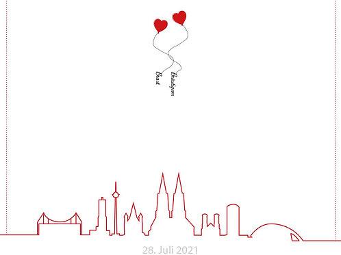Hochzeit 5 / Grafische Skyline