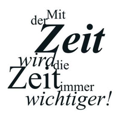 """wunschBOX / ZITAT """"Mit der Zeit wird die Zeit immer wichtiger!"""""""