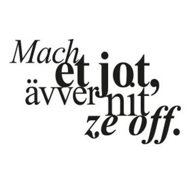 """wunschBOX / OP KÖLSCH """"Mach et jot, ävver nit ze off."""""""