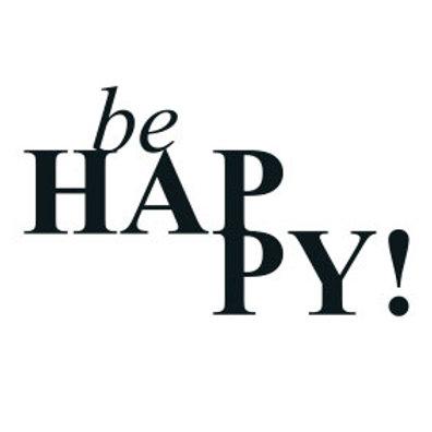 """typoBILD """"be happy!"""""""