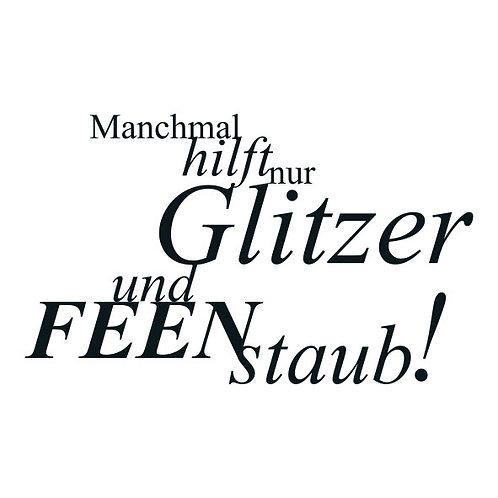 """typoMAGNET Plus / SPASS """"Manchmal hilft nur Glitzer und Feenstaub!"""""""