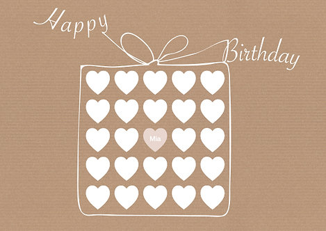 Geburtstag 4 / Herzgeschenk