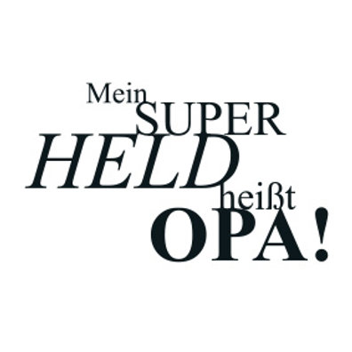 """wunschBOX / LIEBE """"Mein Superheld heißt Opa!"""""""