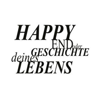 """typoMAGNET Plus / ZITAT """"Happy End? Oder Geschichte deines Lebens!"""""""