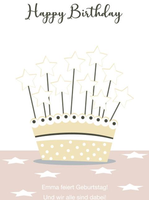 Geburtstag 10 / Sternkuchen