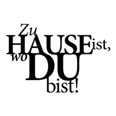 """typoMAGNET Plus / Liebe """"Zuhause ist wo du bist!"""""""