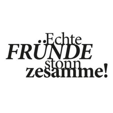 """typoBILD """"Echte Fründe stonn zesamme!"""""""