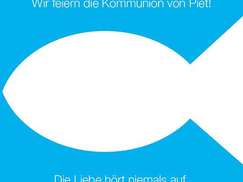 Kommunion 2 / Fisch blau