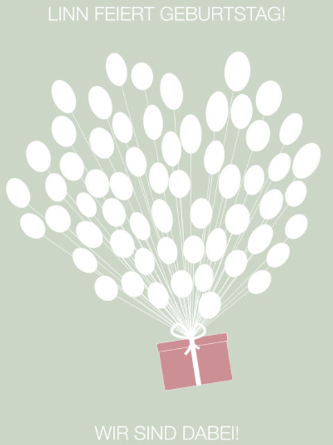 Geburtstag 5 / Geschenkballon