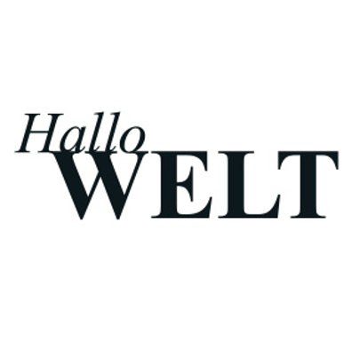 "typoBILD ""Hallo Welt!"""