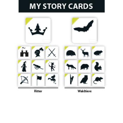 MY STORY ERWEITERUNGSSET RITTER/WALDTIERE - Premium Lernkarten