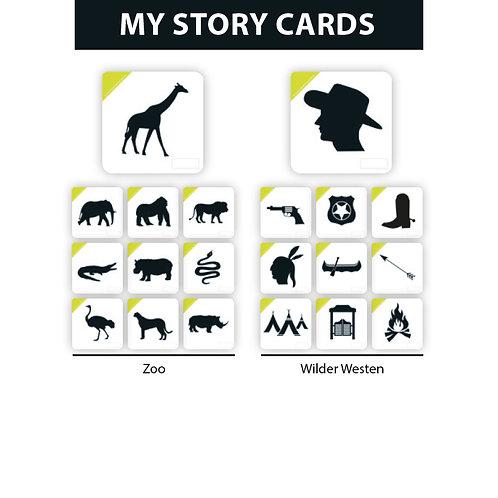 MY STORY ERWEITERUNGSSET ZOO/WILDER WESTEN - Premium Lernkarten