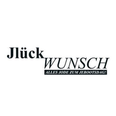 """wunschBOX / OP KÖLSCH """"JlückWUNSCH!"""""""