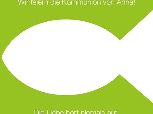 Kommunion 1 / Fisch grün