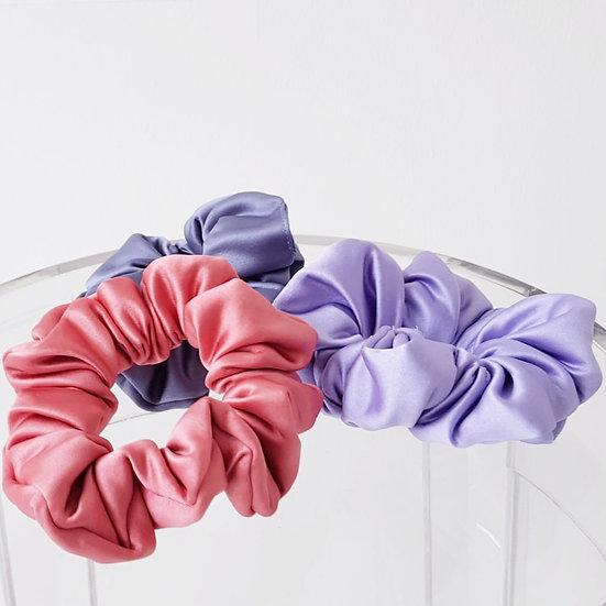 SATIN MINI SCRUNCHIES TRIPLE PACK
